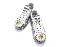 Dolce & Gabbana ドルチェ&ガッバーナ スニーカー 靴 マルチ レザー 【新品同様】 レディース