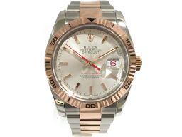 ROLEX ロレックス ターノグラフ 腕時計 ウォッチ  デイトジャスト 116261 ホワイト ステンレススチー