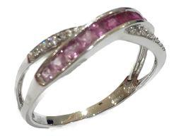 JEWELRY ジュエリー サファイアリング 指輪 シルバー K18WG(750) ホワイトゴールド ×サファイア