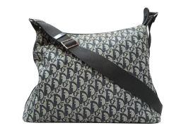 Dior クリスチャン・ディオール トロッター ショルダーバッグ ブラック キャンバス 【中古】【ランクB】 レデ