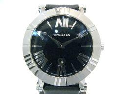TIFFANY&CO ティファニー アトラス 腕時計 ウォッチ レディース Z1301 シルバー×ブラック ステン