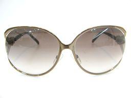 Dior クリスチャン・ディオール サングラス ゴールド GP×プラスチック×ジルコニア 【中古】【ランクB】 レ