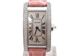 Cartier カルティエ タンクアメリカン 腕時計 ウォッチ シルバー K18WG(750)ホワイトゴールド ×