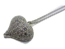 TIFFANY&CO ティファニー ピンチドクローズ  ダイヤモンド ネックレス クリアー PT900 プラチナ