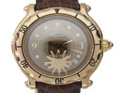 Chopard ショパール ハッピースポーツ 腕時計 ウォッチ ゴールド ピンクゴールドXレザー 【中古】【ランク