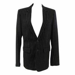 SAINT LAURENT サン・ローラン Men's ジャケット ブラック/グレー ウール90%/ナイロン10%