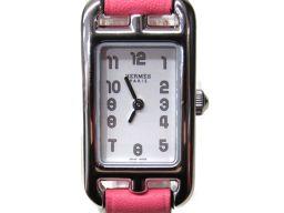 HERMES エルメス ナンタケットミニ 腕時計 ウォッチ NA2.110 ローズアザレ レザーベルト  x ステ