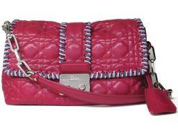 Dior クリスチャン・ディオール ニューロックチェーンショルダーバッグ ピンク レザー 【中古】【ランクA】 レ