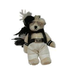 PRADA プラダ クマ チャーム ホワイト×ブラック キャンバス 【中古】【ランクA】 メンズ/レディース
