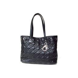 Dior クリスチャン・ディオール パナレアトートバッグ ブラック 塩化ビニールコーティング 【中古】【ランクA】
