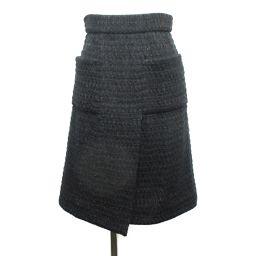 CHANEL シャネル スカート P51453V38322 ブラック 57%コットン×28%ポリエステル×9%アク