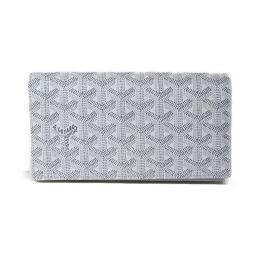 GOYARD ゴヤール 二つ折り長財布 財布 ホワイト 塩化ビニールコーティング 【新品同様】 メンズ/レディース