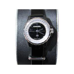 CHANEL シャネル J12XS 腕時計 ウォッチ H4663 ブラック レザーベルト  x ハイテクセラミック