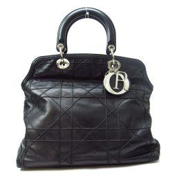 Dior クリスチャン・ディオール 2wayショルダーバッグ ブラック レザー 【中古】【ランクB】 レディース