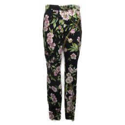 Dolce & Gabbana ドルチェ&ガッバーナ フラワー柄パンツ ブラック/ピンク/グリーン/ブラウン レー