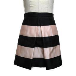 Dior クリスチャン・ディオール スカート ピンク×ブラック シルク 【中古】【ランクA】 レディース