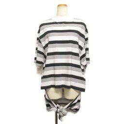 BALENCIAGA バレンシアガ Tシャツ ホワイト×ブラック コットン 【中古】【ランクA】 レディース