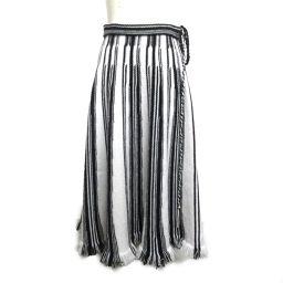 Dior クリスチャン・ディオール スカート ホワイトxブラック ウール 【中古】【ランクA】 レディース
