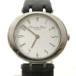 Dior クリスチャン・ディオール 時計 ウォッチ D74-100 ホワイト ステンレススチール(SS)  x 革