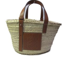 LOEWE Loewe Basket Bag Tote Bag 327.0.S92 Beige X Brown Straw [New]