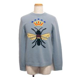 GUCCI Gucci Sweater Light Blue x Light Yellow x Black 100% Hair [Used] [Rank A] Me