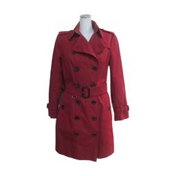 BURBERRY Burberry Trench Coat Red Cotton 100% [Used] [Rank A] Ladies