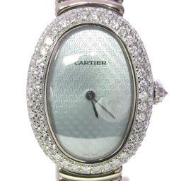 Cartier カルティエ ベニュワール ダイヤモンドベゼル 腕時計 ウォッチ シルバー K18WG(750)ホワ