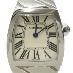 Cartier カルティエ ラドーニャーSM 時計 ウォッチ アイボリー ステンレススチール(SS) 【中古】【ラ