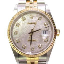 Rolex Datejust 10P Diamond Watch Watch 16233G / T number Silver Stainless