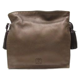 LOEWE Flamenco Shoulder Bag Bronze Sheep Leather (Lamb) [Used] [Rank A] Ladies