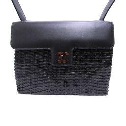 CHANEL Chanel Vintage Basket Bag One Shoulder Bag Black Lambskin x Willow [Used] [Run]