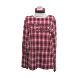FENDI Fendi Turtle Sweater FAE144A4EM Red x White x Black 100% Wool [Medium