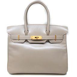 HERMES Hermes Birkin 30 Handbag Beige (Matte Gold Hardware) Box Calf □ G stamp [
