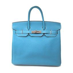HERMES Hermes Otacroa 32 Handbag Blue Jean (Silver Hardware) Togo □ J Stamp [Used] [La
