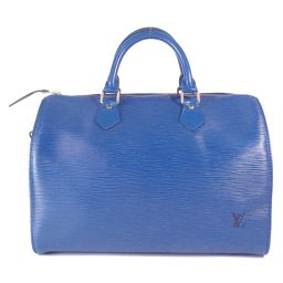 LOUIS VUITTON Louis Vuitton Speedy 30 Boston Bag Handbag M43005 Toledo Blue