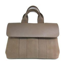 HERMES Hermes Valparaiso PM Handbag Etope Canvas x Vau Chamonix [Used] [Rank