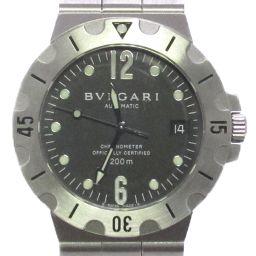 BVLGARI ブルガリ ディアゴノ スクーバ 腕時計 ウォッチ SD38S ブラック ステンレススチール(SS)
