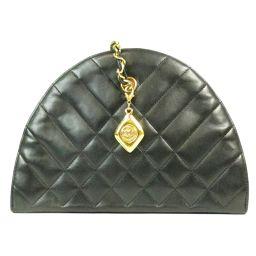 CHANEL Chanel chain shoulder bag black (braces: gold) sheep leather (lam) [pre] [rank B]