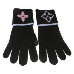 LOUIS VUITTON Gon Giant Pop Gloves M73905 Noir Wool [New