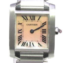 Cartier カルティエ タンクフランセーズSM 腕時計 ウォッチ W51028Q3 ピンク x シルバー ステ