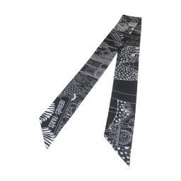 HERMES エルメス トゥイリー スカーフ ブラック シルク 【新品】 メンズ/レディース