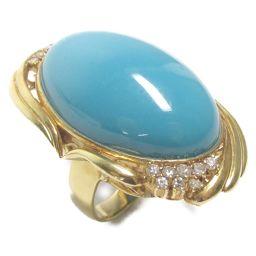 JEWELRY ジュエリー ターコイズ リング 指輪 ブルー K18YG(750) イエローゴールド  x ターコ