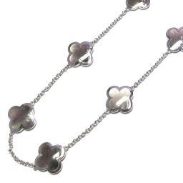 Van Cleef & Arpels Van Cleef & Arpels Alhambra Necklace (9P) Silver Gray