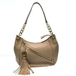 MICHAEL KORS Michael Kors One Shoulder Bag Beige Leather [Used] [Rank A] Ladies