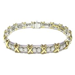 TIFFANY & CO Tiffany Jean Schlumberger bracelet clear x silver x gold