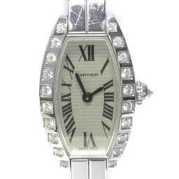 Cartier Cartier Mini Tonneau Laniere Diamond Bezel Watch WJ2004W3 Silver