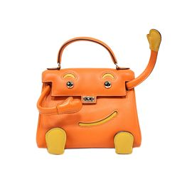 HERMES エルメス ケリードール  ハンドバッグ 2010年香港そごう限定 オレンジ×ソレイユ(シルバー金具)
