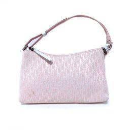 Dior クリスチャン・ディオール アクセサリーポーチ ピンク キャンバス 【中古】【ランクB】 レディース