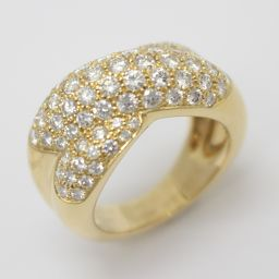 Cartier カルティエ コリゼ ダイヤモンド リング 指輪 クリアー K18YG(750) イエローゴールド