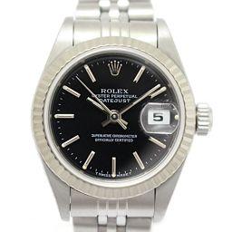 ROLEX ロレックス デイトジャスト レディースウォッチ 腕時計 69174  ブラック K18WG(750)ホ